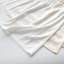 skirt Summer of 2019 One size fits all, short-s (40cm), short-m (41cm), short-l (42cm)_ ? short XL (43cm), medium M (51cm), medium L (52cm), medium XL (53cm) Black, white, apricot, milk white Short skirt Versatile Natural waist other Solid color 18-24 years old knitting