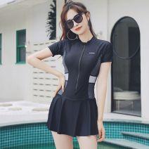 one piece  FQ XL,M,L,XXL,XXXL,XXXXL,XXXXXL Grey, orange No chest pad D-33 female Short sleeve Casual swimsuit