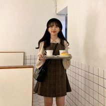 Quick drying T-shirt female sixty-four point eight zero Shirt, skirt, suit Other / other 51-100 yuan S,M,L,XL Long sleeves Autumn 2020 lattice