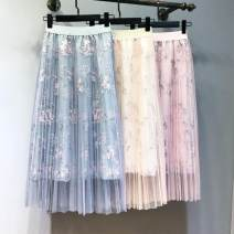 skirt Fall 2017 The average size is 80-120 Jin, increased by 120-145 Jin Black, apricot, grey, bright pink, plum pink, plum grey longuette Rococo High waist Fairy Dress Architecture Type O 25-29 years old - More than 95% Light tweed polyester fiber Embroidery 40g / m ^ 2 and below