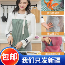 apron Green, red Solid color
