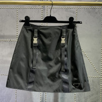 skirt Spring 2021 S,M,L black Solid color More than 95% cotton