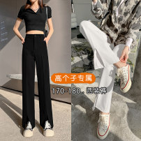 Casual pants White (regular), black (regular), white (Extended), black (Extended) S,M,L,XL,2XL Spring 2021 trousers Wide leg pants High waist commute routine 91% (inclusive) - 95% (inclusive) other Asymmetry