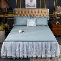 Bed skirt cotton Lemon yellow, lilac, seaweed green, coral powder, moonlight silver, beauty powder, pearl white Other / other Solid color Qualified products
