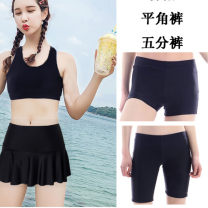 Split swimsuit Swimsuit boutique XL,L,M,XXL,XXXL,4XL Skirt split swimsuit With chest pad without steel support Nylon, spandex Women's Boxers female Crew neck