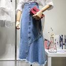 skirt Summer 2021 S,M,L,XL Blue (in stock) longuette commute High waist Denim skirt 81% (inclusive) - 90% (inclusive) Denim Ocnltiy