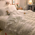 Bedding Set / four piece set / multi piece set Polyester (polyester fiber) other Solid color other Farreran Polyester (polyester fiber) 4 pieces other Sheet bed skirt Qualified products Princess style other Reactive Print  20210402-1 Thermal storage other