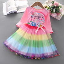 Dress Ice and snow Qiyuan pink, ice and snow Qiyuan blue, unicorn pink, Sophia pink, ice and snow Qiyuan pink + crown + magic wand, ice and snow Qiyuan blue + crown + magic wand, unicorn pink + crown + magic wand, Sophia pink + crown + magic wand female little lisa Cotton 65% polyester 35% cotton