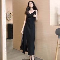 Dress Spring 2021 black Average size longuette singleton  Sleeveless commute Crew neck Loose waist Solid color Socket A-line skirt other camisole 18-24 years old Type A ONLY PERTECT Korean version 71% (inclusive) - 80% (inclusive) polyester fiber