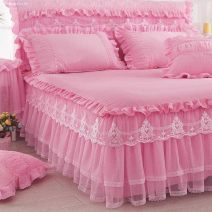 Bed skirt Others Pink, rose, lavender, beige, scarlet, jade Other / other Solid color Qualified products