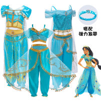 National costume / stage costume Summer of 2019 Bx1638 - blue bx1639 - blue bx1625 - green bx1650 - Blue 100cm 110cm 120cm 130cm 140cm 150cm ZH-ALD Santa Fe Triacetate fiber (triacetate fiber) 100%
