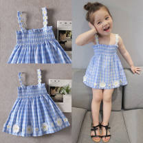 Family clothes for parents and children 73 for 70cn, 80 for 70 ~ 80cm, 90 for 80 ~ 90cm, 100 for 90 ~ 100cm, 110 yards, 120 for 110 ~ 120cm, 130 for 120 ~ 130cm My favorite Blue and white plaid skirt, white dress