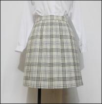 skirt Winter of 2019 Waist 60cm, waist 64cm, waist 68cm, waist 72cm, waist 76cm, waist 80cm The skirt length is 42cm, 45cm, 48CM and 55cm Middle-skirt Versatile Pleated skirt lattice Big white rabbit Late night fantasy polyester fiber