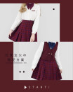 skirt Spring of 2019 Waist 60cm, waist 64cm, waist 68cm, waist 72cm, waist 76cm, waist 80cm The skirt length is 42cm, 45cm, 48CM and 55cm Short skirt Versatile Pleated skirt lattice Type A Red lotus fire Late night fantasy