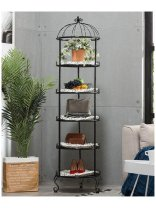Clothing display rack 5 layers of white, 5 layers of white + 5 pads, 5 layers of black, 5 layers of black + 5 pads, 5 layers of red copper, 5 layers of red copper + 5 pads, 5 layers of bronze, 5 layers of bronze + 5 pads Hanging bag Metal Official standard 45x45x170cm