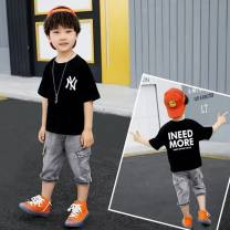 Sweater / sweater Other / other White, black male 110cm,120cm,130cm,140cm,150cm,160cm spring and autumn No detachable cap other other