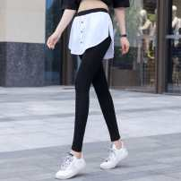 Leggings Autumn 2020 White, stripe stitching S 85-105 kg, m 105-120 kg, l 120-140 kg, XL 140-160 kg, 2XL 160-180 kg, 3XL 180-200 kg Thin money trousers 25-29 years old Other other 91% (inclusive) - 95% (inclusive)