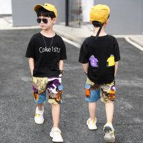Hand painted T-shirt Lei Yu 110cm,120cm,130cm,140cm,150cm,160cm,170cm Sky blue, white, black