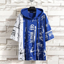 T-shirt Blue yellow red white black Colovica / caiweixuan M L XL 2XL 3XL male summer Short sleeve Hood leisure time No model No detachable cap cotton camouflage Cotton 95% polyurethane elastic fiber (spandex) 5% 2021-0403-1 other Summer 2021 Chinese Mainland Jiangsu Province Suzhou