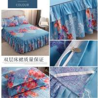 Bedding Set / four piece set / multi piece set cotton Quilting Plants and flowers 128x68 Other / other cotton 4 pieces 60 1.5m (5 ft) bed, 1.8m (6 ft) bed, 2.0m (6.6 ft) bed Bed skirt Qualified products Simplicity 100% cotton twill Reactive Print