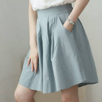 Casual pants Grey blue, Navy, apricot and black S (recommended 80-100 kg), m (recommended 100-120 kg), l (recommended 120-140 kg), XL (recommended 140-160 kg), 2XL (recommended 160-180 kg), 3XL (recommended 180-200 kg) Summer 2016 Pant Wide leg pants High waist Other styles Thin money other