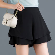 skirt Spring 2021 S suggests below 80 kg, m for 80-104 kg, l for 104-115 kg, XL for 115-120 kg, 2XL for 121-136 kg, 3XL for 136-158 kg Black Trouser skirt [double layer Chiffon] Short skirt commute High waist Pleated skirt 31% (inclusive) - 50% (inclusive) other YSX other Solid color