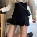 skirt Spring 2021 S 85-95, m 96-106, l 107-117, XL 118-128, 2XL 129-139, 3XL 140-150, 4XL 151-160 black Short skirt Sweet High waist A-line skirt 31% (inclusive) - 50% (inclusive) other other Splicing