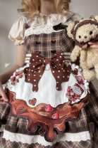 Yoga clothes M One piece embroidery apron (subject to the real object), split embroidery apron (subject to the real object) male Sand of time Lolita other children WQ01