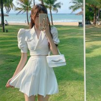 Fashion suit Summer 2021 S, M Black top, black skirt, white top, white skirt, pink top, pink skirt