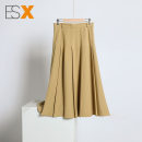 skirt Summer 2021 S,M,L,XL Black, yellow, green, blue Mid length dress Versatile Pleated skirt Solid color 25-29 years old 30% and below other other fold 201g / m ^ 2 (including) - 250G / m ^ 2 (including)