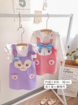 Dress female Other / other Other 100% leisure time Cartoon animation other other 18 months, 2 years old, 3 years old, 4 years old, 5 years old, 6 years old, 7 years old Chinese Mainland Purple dress, pink dress 90cm,100cm,130cm,140cm,110cm,120cm