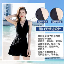 one piece  See description M (85-95kg) neckline underwear seamless design, l (95-110kg) pleated skirt is slim and 1, XL (110-125kg) simple back Outline 2, 2XL (125-140kg) preferred fabric 3, 3XL (140-150kg) quality 4 in 90 days Skirt one piece Steel strap breast pad Spandex, polyester, others female