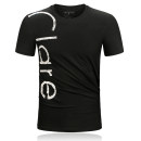 T-shirt Fashion City White, black, red, blue routine S,M,L,XL,2XL,3XL Chaopai hot air clover Short sleeve Crew neck Super slim daily summer Other 100% teenagers routine Simplicity in Europe and America 2020 stripe printing Cotton ammonia Brand logo