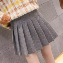 skirt Winter 2020 S,M,L,XL Black, light grey, dark grey Short skirt commute High waist Pleated skirt Solid color Type A 18-24 years old 0dfBLuG0dfBLuG Other / other fold Korean version