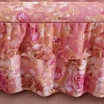Bed skirt 2 pillowcases for bed skirt 1.2x2m, 2 pillowcases for bed skirt 1.5X2m, 2 pillowcases for bed skirt 1.8x2m, 2 pillowcases for bed skirt 1.8x2.2m and 2 pillowcases for bed skirt 2x2.2m cotton Other / other Plants and flowers First Grade U72353