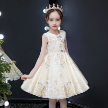 cheongsam 110,120,130,140,150 Champagne, red, pink [send pearl hairband], 8142 Pink Long sleeve [send pearl hairband] Other 100% Other / other There are models in the real shooting summer Broken flowers other Class B 8321-2