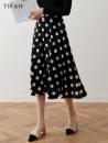 skirt Summer 2020 XS,S,M,L,XL,2XL black longuette commute High waist A-line skirt Dot Type A 25-29 years old YF2783 - one Other / other zipper Korean version