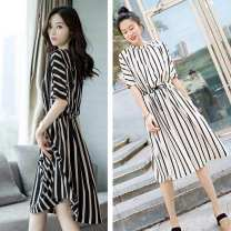 Dress Summer 2021 white , black , Sling white M,L,XL,2XL,3XL 25-29 years old Other / other