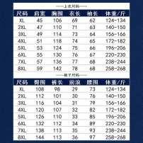 Leisure sports suit autumn XL,2XL,3XL,4XL,5XL,6XL,7XL,8XL Dark grey, Navy, black Long sleeves Other / other trousers Large size Sweater nylon