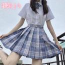 skirt Summer 2021 XS,S,M,L,XL,2XL Short skirt Sweet High waist Pleated skirt lattice Type A 18-24 years old 91% (inclusive) - 95% (inclusive) polyester fiber solar system