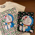 T-shirt S,M,L Summer 2020 Short sleeve Crew neck easy Regular routine commute cotton 96% and above 18-24 years old Korean version originality Cartoon animation Vogue Style printing