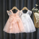 Dress White, pink female Other / other 80cm,90cm,100cm,110cm,120cm,130cm Cotton 100% summer princess Skirt / vest Solid color other Cake skirt AMH - Summer net red princess skirt 18 months, 2 years old, 3 years old, 4 years old, 5 years old, 6 years old, 7 years old, 8 years old