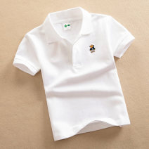 T-shirt White, gray, red, green, pink, yellow, light green, orange, cyan, Navy, rose, sapphire, sky blue Other / other neutral summer Short sleeve Lapel and pointed collar leisure time No model nothing cotton Solid color Cotton 100% Solid (short sleeve) Class B Sweat absorption