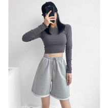 Casual pants S M L XL 2XL Spring 2021 Pant Straight pants High waist Thin money B203 Bonyikaz / Buyi Inn cotton