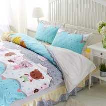 Bedding Set / four piece set / multi piece set cotton Quilting Cartoon animation 133x72 Naruto cotton 4 pieces 40 1.0m (3.3 ft) bed, 1.2m (4 ft) bed, 1.35M (4.5 ft) bed, 1.5m (5 ft) bed, 1.8m (6 ft) bed, 2.0m (6.6 ft) bed, 2.2m (7 ft) bed Bed cover type, bed skirt type, bed cover type Cartoon style