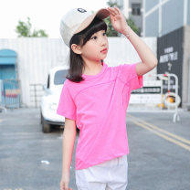 Children's quick drying T-shirt summer other Purple sky blue rose red female Another wind 120 130 140 150 160 Class B S8035 Ultra light, breathable and quick drying Cycling 6 years old, 7 years old, 8 years old, 9 years old, 10 years old, 11 years old, 12 years old, 13 years old and 14 years old