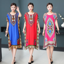 Dress Winter of 2019 Indonesian wind red Indonesian wind Baolan Indonesian wind lake blue Indonesia wind orange Indonesian wind green Indonesian wind rose red Indonesian wind sky blue playing card sky blue playing card big red playing card Royal Blue playing card green playing card rose red longuette