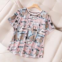 T-shirt Pink M,L,XL,2XL Summer 2021 Short sleeve Crew neck easy Regular routine commute other 31% (inclusive) - 50% (inclusive) 30-34 years old Korean version Geometric pattern Juzui / Jiuzi JC  A1163-50-108