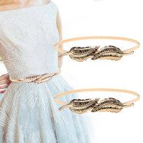 Belt / belt / chain Metal female Waist chain Versatile Single loop a hook 1cm alloy