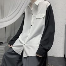 shirt Youth fashion Others M. L, XL, 2XL, 3XL, s small, 4XL, XS plus small, 5XL Black and white, gray, white and blue routine Pointed collar (regular) Long sleeves easy Other leisure summer teenagers Polyester 100% 2020